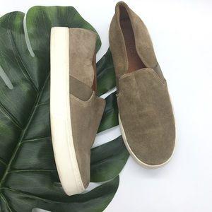 Vince Platform Slip On Sneakers Sz 9.5 Gray/Brown